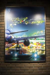 картина самолет