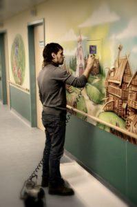 идеи дизайна больницы поликлиники роспись стен