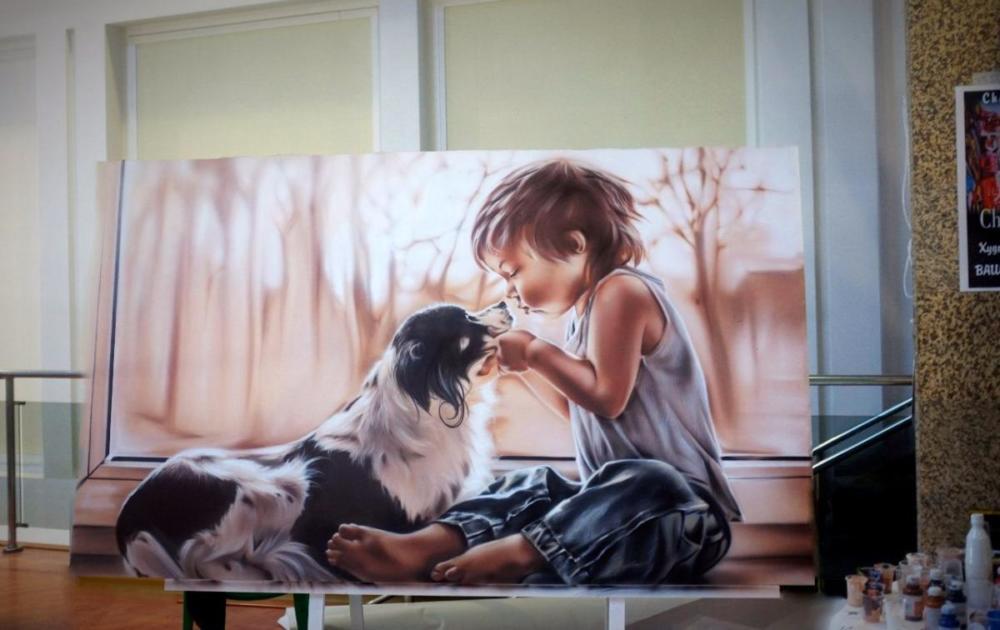 """""""Малыш"""", картина, строителья выставка г.Горно-Алтайск"""