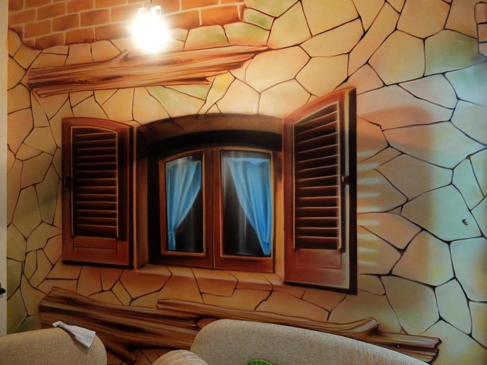 роспись-обманка окно