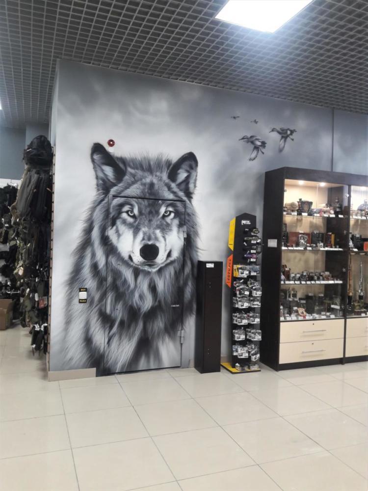 аэрография волк