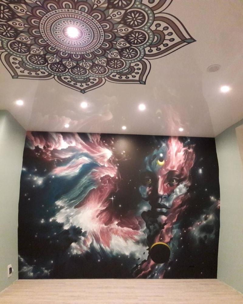 роспись в студии йоги, Душа, Новосибирск